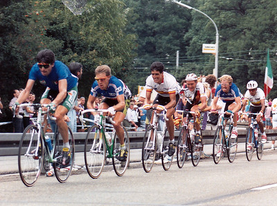 WM 25.8.1991 Stuttgart: Winner Bugno, Charly Mottet, Miguel Indurain, Rolf Gölz, Gerard Rue, Mejia