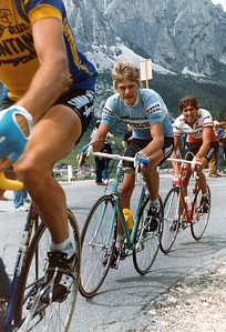 Giro 83 - Passo Campolongo, Tommy Prim and Bruno Leali