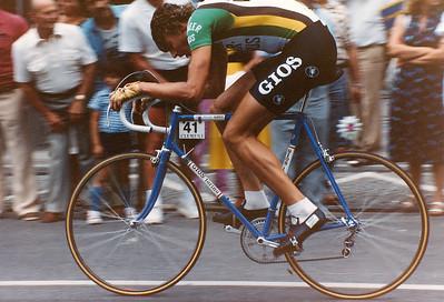2.8.1981 Prolog Deutschland Tour Frankfurt, Fons de Wolf auf GIOS Torino.