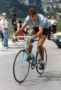 3.6.1983, 20e Etappe Giro 1983, Passo Campolongo, Fons de Wolf (Bianchi)