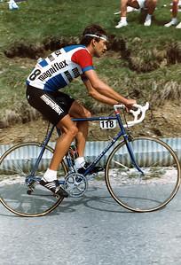 Giro 83 - Gerhard Zadrobilek (AUT), Magniflex, mit Luftpumpe und Ersatzschlauchreifen als Profi..:-)