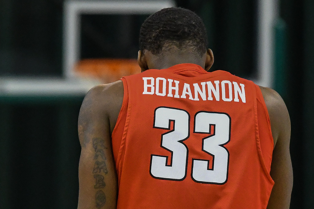 . Eric Bonzar�The Morning Journal<br> Youngstown State forward Naz Bohannon and the Penguins traveled to Cleveland, Jan. 1, 2018, to face the Cleveland State Vikings in a Horizon League match-up. The Penguins improved to 3-11 with a 80-77 win over the Vikings.