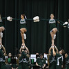 Eric Bonzar—The Morning Journal<br> The Cleveland State Cheerleaders entertain the crowd, Jan. 1, 2018.