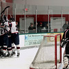 Record-Eagle/Keith King<br /> The Traverse City North Stars celebrate a first-period goal scored against the Motor City Metal Jackets' Jimmy Hamby Tuesday, March 15, 2011 at Centre Ice.