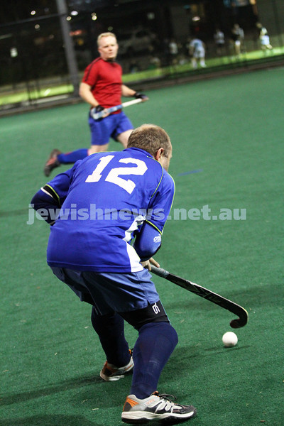 10-9-12. Maccabi veterens hockey defeat Hawthorn in the grand final 2-1. Peter Rubinstein. Photo: Peter Haskin