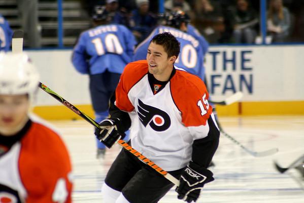Joffrey Lupul Philadelphia Flyers. © 2008 Joanne Milne Sosangelis. All rights reserved.