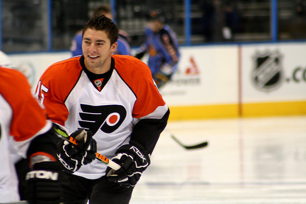 Joffrey Lupul Philadelphia Flyers. © 2008 Joanne Milne Sosangelis. All rights reserved.