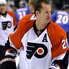 Chris Pronger. Philadelphia Flyers at Atlanta Thrashers. 20 March 2010.<br /> © Joanne Milne Sosangelis. All rights reserved.