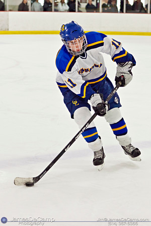 Gahanna High School and DeSales High School hockey teams on the Ice Sunday afternoon December 18, 2011 at the Easton Chiller. (© James D. DeCamp | http://www.JamesDeCamp.com | 614-367-6366)