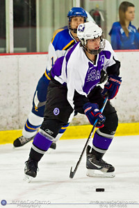 DeSales High School's Joe Gray (8) in the first period of play against the Gahanna Sunday afternoon December 18, 2011 at the Easton Chiller. (© James D. DeCamp | http://www.JamesDeCamp.com | 614-367-6366)