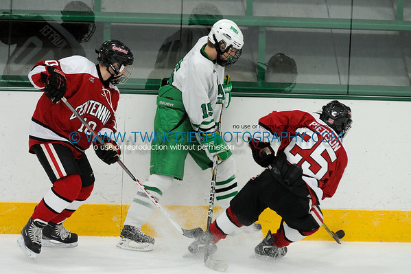 #15 BEN MONCHAMP#10 JOE SCHWAPPACH#25 MICHAEL PIERSON  Edina Hornets vs. Centennial Cougars Junior Varsity HockeyOrder a photo print of any photo by clicking the 'Buy' link above.   TIP: Click the photo above to display a larger size