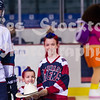 Adam Pleskach (11) received a hat from Drysdale, in recognition of a recent hat trick.