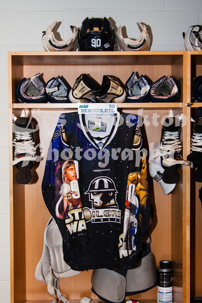 Since this game had the Star Wars theme, I showed up early to photograph the jerseys.