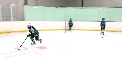 3 Sharks on Puck handling drill