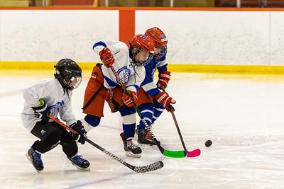 Blizzard Hockey- 2-line Atom game and Girls Hockey Skills practice