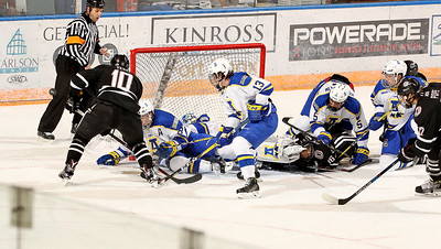 UAF team blockage to stop a goal