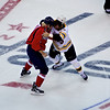 Caps (3) vs Bruins (2) Preseason at Verizon Center  King (17) and Thorton (22) fight in the 1st