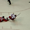 Washington Capitals vs Carolina Hurricanes at Verizon Center: Shaone Morrison takes down Eric Staal