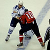 Washington Capitals vs Toronto Maple Leafs at Verizon Center: Ben Ondrus (Leafs) and Matt Bradley (Caps) fight