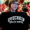 """Ovechkin, Russian for douche bag"" She is not amused. Washington Capitals vs Pittsburgh Penguins Stanley Cup Playoffs Round 2 Game 5 at the Verizon Center, May 9, 2009"