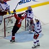 Brook Laich celebrates MAtt Bradley's Second goal of the night. Washington Capitals face the New York Rangers in a must win Eastern Conference Quarterfinals Game Five at the Verizon Center in Washington DC (April 24, 2009)