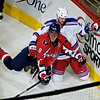 Alex Ovechkin of the Washington Capitals celebrates a goal late in the 2nd period against the New York Rangers at the Verizon Center, April 24, 2009