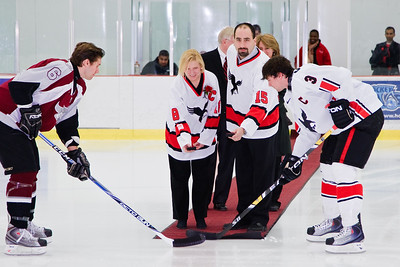 Ceremonial Puck Drop with President Runte (9721)