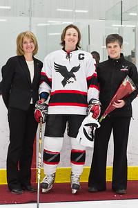 Sara Seiler with Jenn Brenning and Coach Coolidge