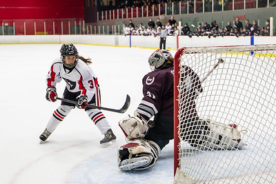 Chelsea Lefebvre scores in the shoot out