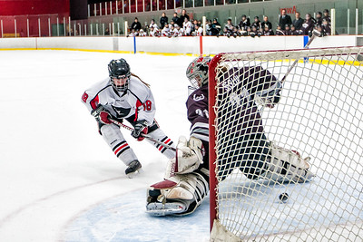 Sydnie MacDonald scores in the shoot out