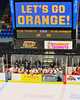 Syracuse University Orange bench during the game with the Cornell Big Red in NCAA Women Ice Hockey at the Onondaga County War Memorial on Tuesday, December 3, 2013.