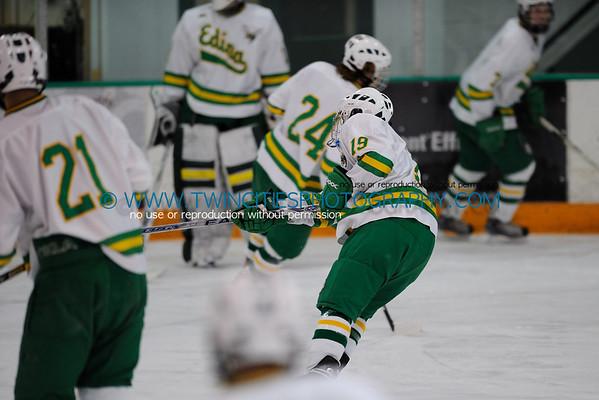 Edina High School Hockey vs. Cloquet-Esko-Carlton High School Lumberjacks Boys Hockey Team. January 2009 Order a photo print of any photo by clicking the 'Buy' link above.  TIP: Click the photo above to display a larger size