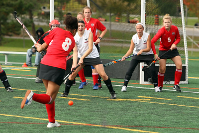 6J0E3249 copy Whack it!  York shooter challanging Carleton U's defense, enroute to a 1-0 win.