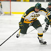 Fitchburg State's Ryan Connolly attacks with the puck during Thursday's game against Plymouth State.<br /> SENTINEL & ENTERPRISE / BRETT CRAWFORD