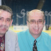 Steve McCall (media and radio for Tulsa Oilers), Bob Bakken (media coordinator for Mississippi Riverkings).