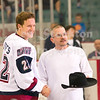 Gary Steffes (22) received recognition for a recent hat trick.