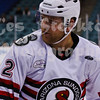 Adam Smyth wouldn't fight Amesbury but he would call him a few names on the way to the bench.