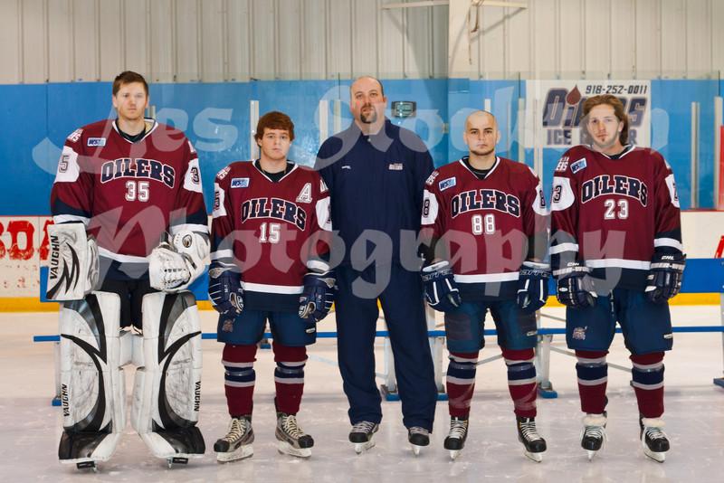 Justin Lindgren (35), Bobby Watson (15), Zac Desjardins, David Morong (88), Jon Toth (23)