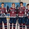 Adam Cahill (19), Garrett Noble (22), Kyle Messer (16), Jason Small (37)