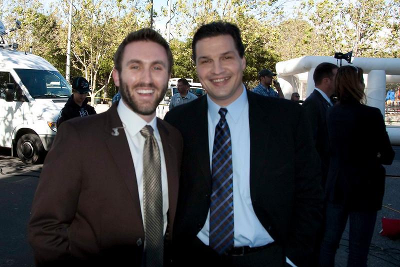 Brody Brazil with Eddie Olczyk.
