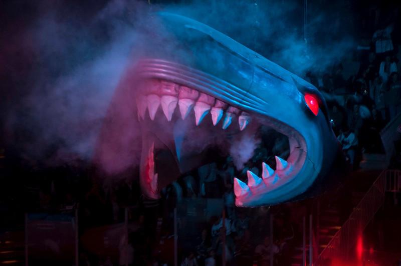 The Sharks head descending.