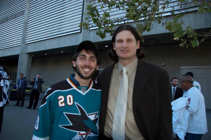 Jason Keller with Mike Ricci.
