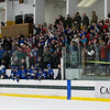 Lunenburg fans react after their team's second-period goal.<br /> SENTINEL & ENTERPRISE / GARY FOURNIER