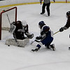 Lunenburg's Nathan Handy gets denied on the doorstep by the Northbridge goalie.<br /> SENTINEL & ENTERPRISE / VINCENT APOLLONIO