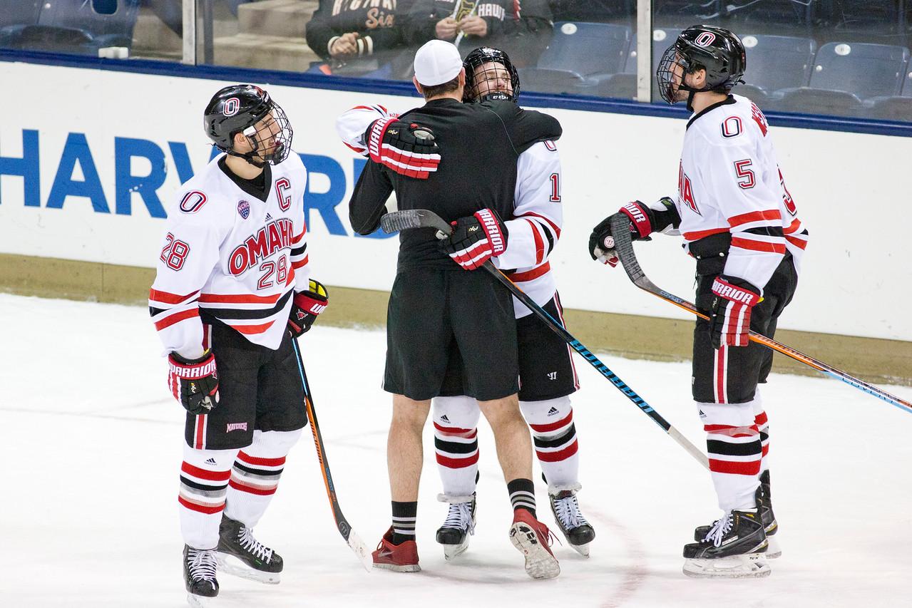 Maverick Celebration  NCAA Midwest Hockey Regional vs. RIT