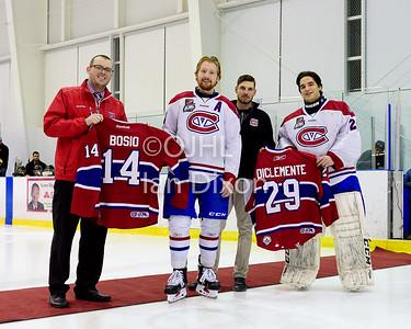 Ontario Junior Hockey League game between   Aurora Tigers and Kingston Voyageurs