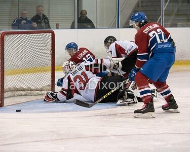 Ontario Junior Hockey League game between  Stouffville Spirit and Kingston Voyageurs