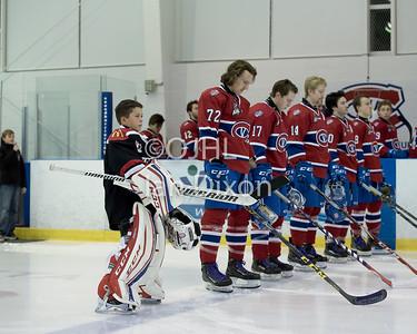 Ontario Junior Hockey League game between  Trenton Golden Hawks and Kingston Voyageurs