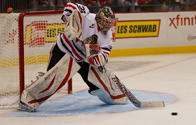 Winterhawk goalie Mac Carruth shuts down Spokane in 4-0 Portland victory at Memorial Coliseum Saturday night.