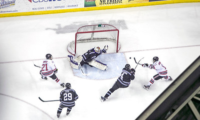 UNO's Mavs take on Minnesota State in hockey on Dec. 14, 2012, in Omaha, Neb.,  (Jeff Beiermann/UNO) University of Nebraska at Omaha. Mavericks NCAA